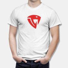 Тениска Fairy Tail - бяла с червено лого Sabertooth