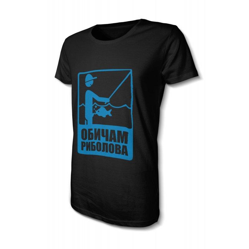 Смешна тениска за рибари - Обичам риболова - Черна в Дамски тениски | в Tee.bg