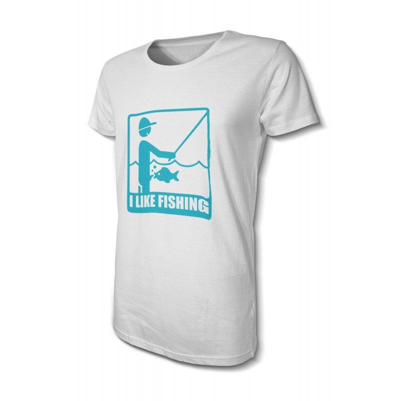Смешна тениска за рибари - I like Fishing на английски в Дамски тениски | в Tee.bg