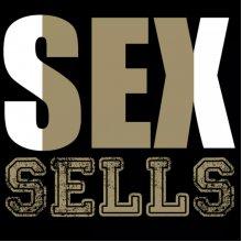 """Забавна дамска тениска с надпис """"SEX SELLS"""""""