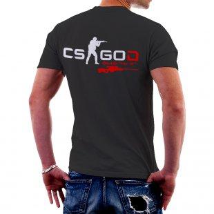 Черна тениска CSGOD - CS:GO с уникален Ник и оръжие за момче в Тематични тениски | в Tee.bg