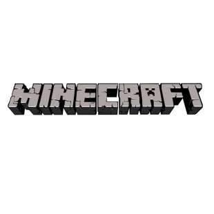 Тениска Minecraft с оригиналното лого - бяла