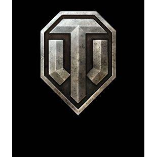 Тениска World of Tanks ЧЕРНА - с оригиналното лого на  WOT
