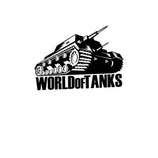 Тениска World of Tanks Бяла - с черен танк и надпис