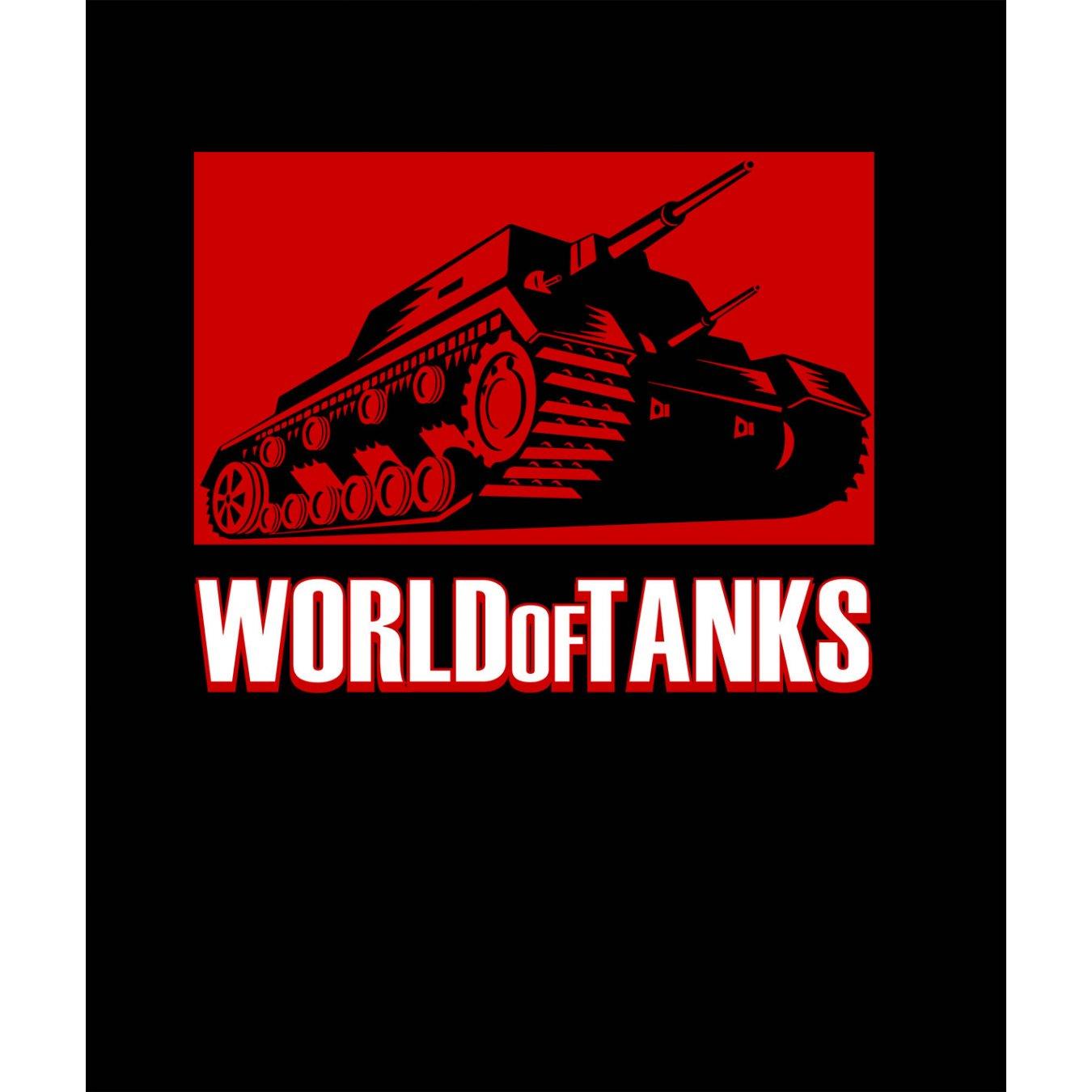 ab1dd514d40 Тениска World of Tanks ЧЕРНА - с червен танк и надпис WOT в Тематични  тениски