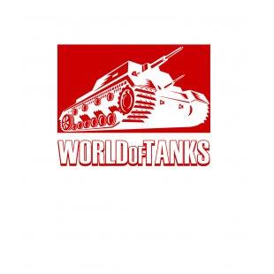 Тениска World of Tanks Бяла - с червен танк и надпис WOT TT1005