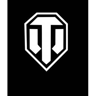 Тениска World of Tanks ЧЕРНА - с логото в БЯЛО