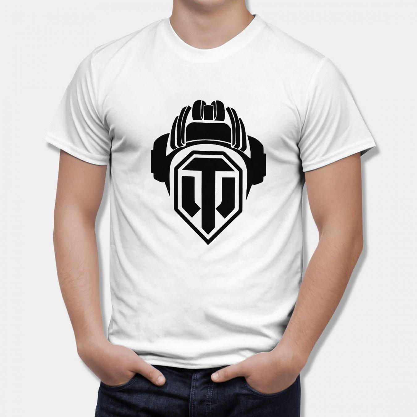 cbe15375337 Тениска World of Tanks - БЯЛА с черно Лого Helmet на World of Tanks в  Тематични