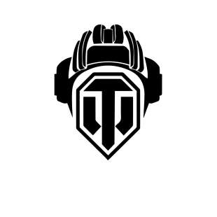 Тениска World of Tanks - БЯЛА с черно Лого Helmet на World of Tanks