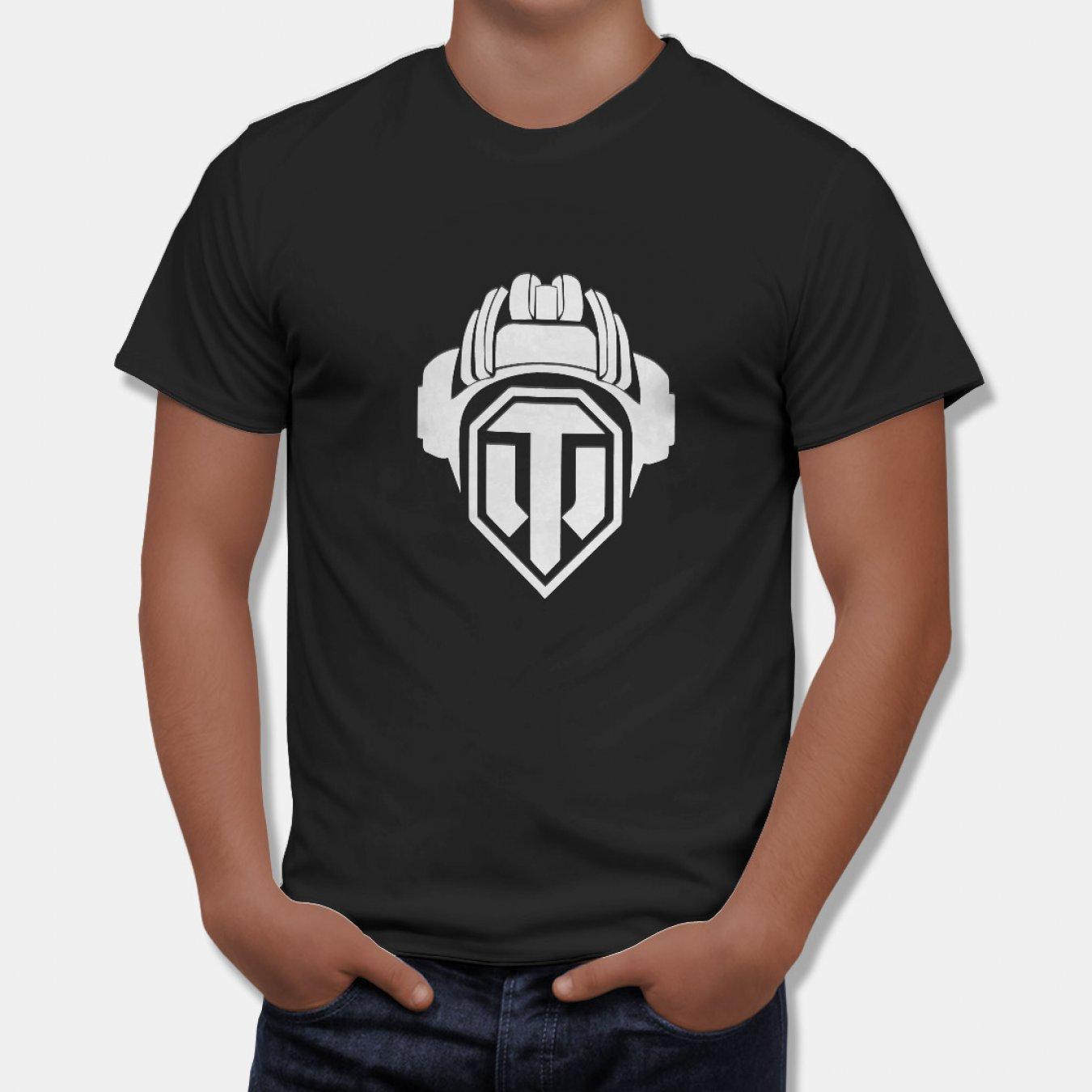b19c00e714c Тениска World of Tanks - Черна с Лого Helmet на World of Tanks в Тематични  тениски