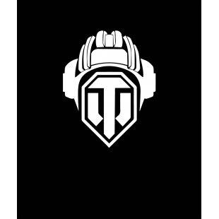 Тениска World of Tanks - Черна с Лого Helmet на World of Tanks