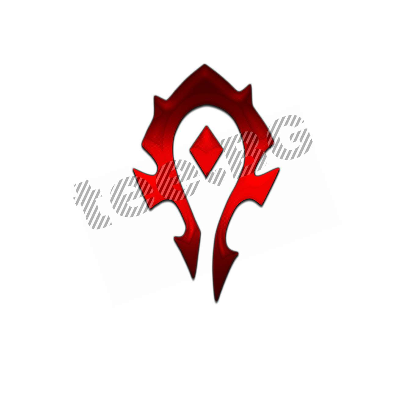 f0fbca87198 Тениска WOW - World of WarCraft - Бяла, с червена преливаща щампа The Horde  лого