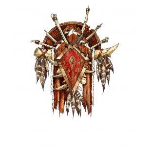 Тениска WOW - World of WarCraft - Бяла, с принт на The Horde от WoW Bu...