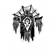 Тениска WOW - World of WarCraft - Бяла, с черна щампа - логото на The ...