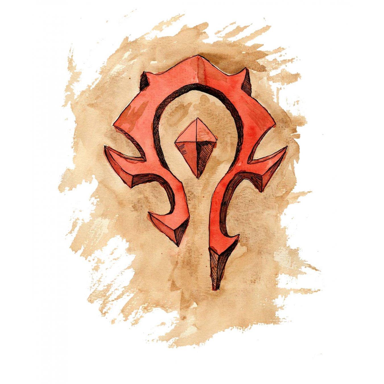 f070aa40e6c Тениска WOW - World of WarCraft - Бяла, с авторски принт - The Horde logo