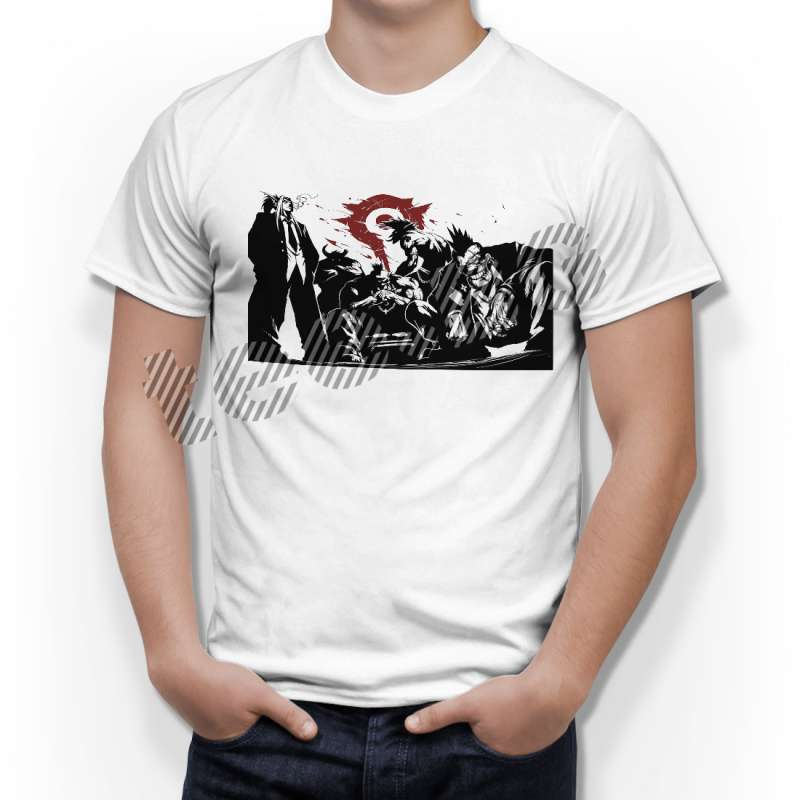 Тениска WOW - World of WarCraft Бяла - с тематичен гангстерски винил в Тематични тениски | в Tee.bg