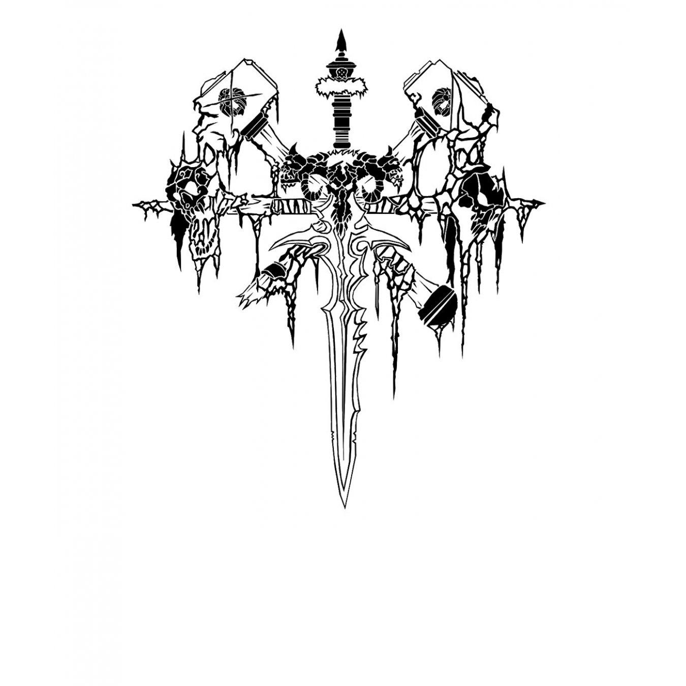 8ac1fb00801 Тениска WOW - World of WarCraft Бяла - с черно лого на Немъртвите в Тематични  тениски