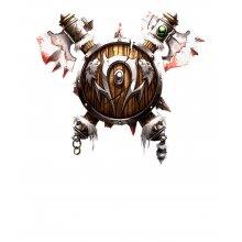 Тениска WOW - World of WarCraft Бяла - пълноцветно лого на Хордата с 2...
