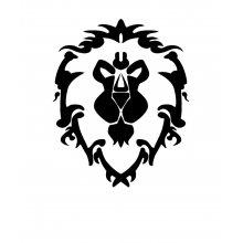 Тениска WOW - World of WarCraft - Бяла, с черна щампа стилизирано лого...