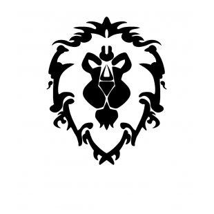 f680ffc4fd4 Тениска WOW - World of WarCraft - Бяла, с черна щампа стилизирано лого на  Алианса