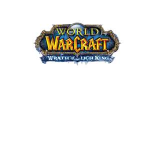 Тениска WOW - World of WarCraft Бяла - с логото на Wrath of the Lich King