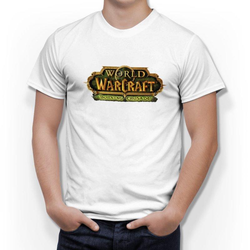 Тениска WOW - World of WarCraft Бяла - с лого на Burning Crusade в Тематични тениски | в Tee.bg