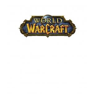 7232214b7f8 Тениска WOW - World of WarCraft Бяла - с първото лого на World of Warc.