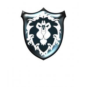 Тениска WOW - World of WarCraft Бяла - с щампа на Алиански Щит