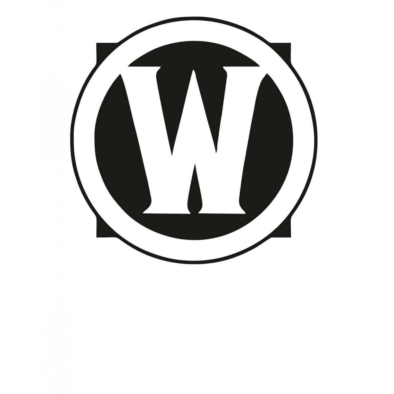 4e1060d1e03 Тениска WOW - World of WarCraft - Бяла, с черна щампа - логото на WOW