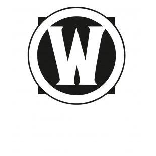 Тениска WOW - World of WarCraft - Бяла, с черна щампа - логото на WOW