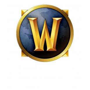 Тениска WOW - World of WarCraft Бяла - с оригиналната икона на World o...