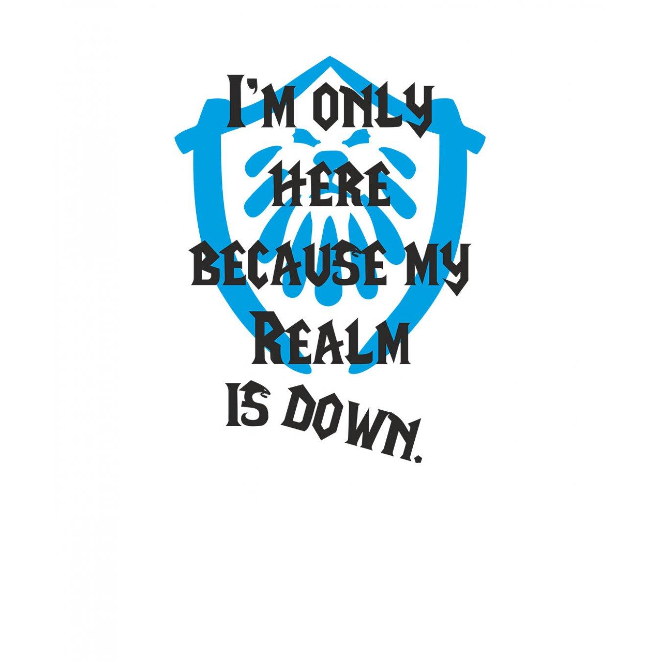 19b07dceb67 Тениска WOW - World of WarCraft Бяла - със забавен надпис и синьо лого на  Алианса