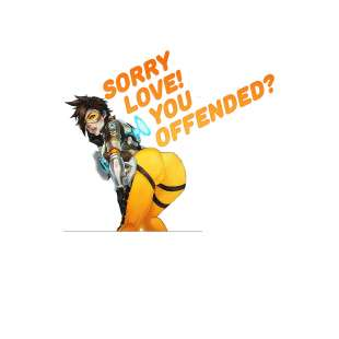 Тениска OverWatch с Tracer Sorry you offended?