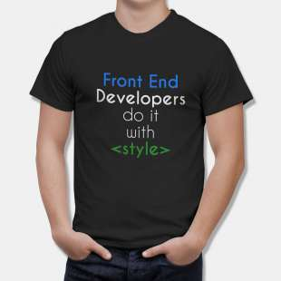 Тениска за Дизайнери Front End Developers do it with Stile - черна в Дамски тениски | в Tee.bg