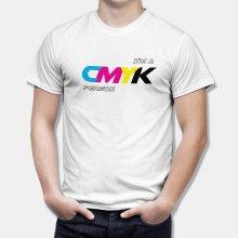 Тениска I'm a CMYK Person за Дизайнери и Художници - бяла