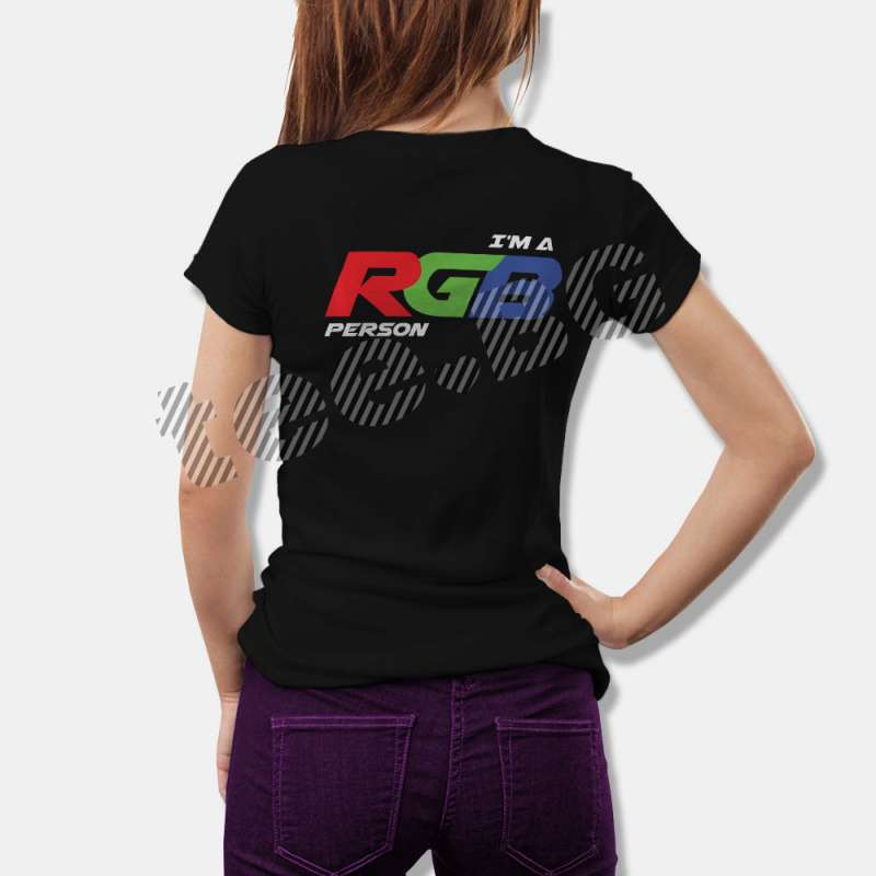 Тениска за Дизайнери I'm a RGB Person за Дизайнери и Художници - черна в Дамски тениски | в Tee.bg