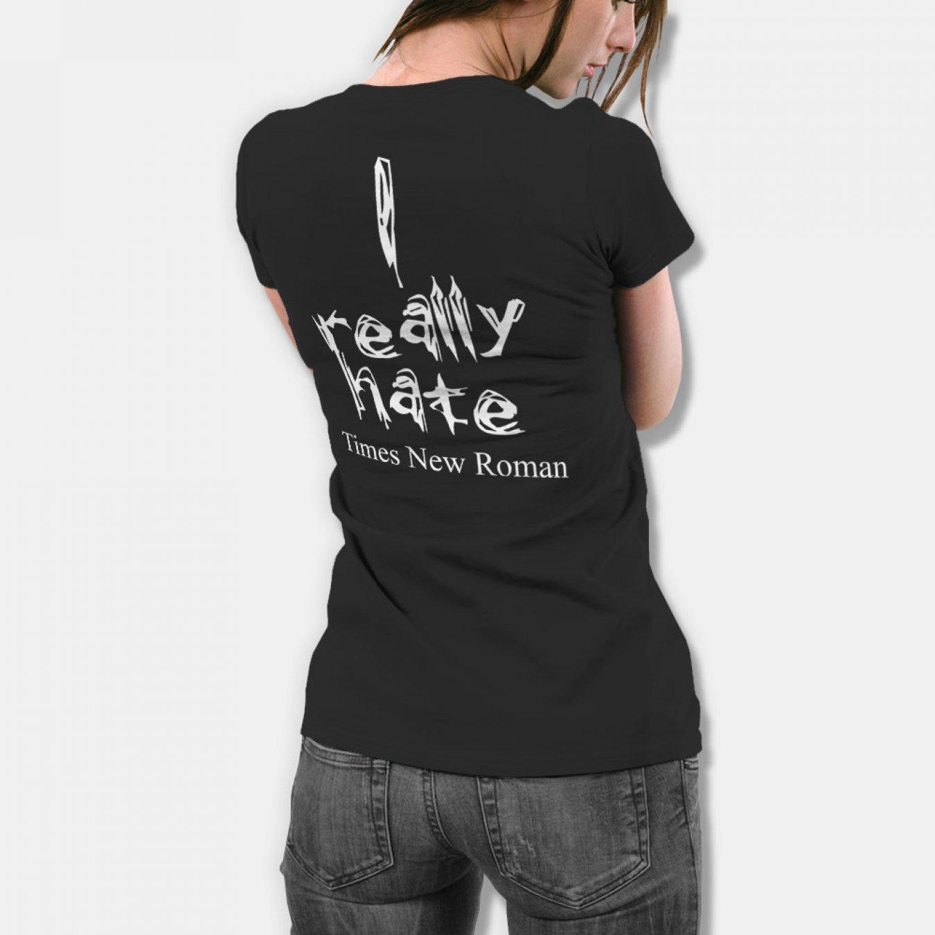 46773267d26 Тениска с щампа I really hate Times New Roman - черна в Дамски тениски | в