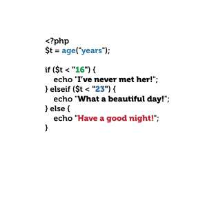 """Тениска за програмисти с Код """"Have a Good Night"""" - бяла"""