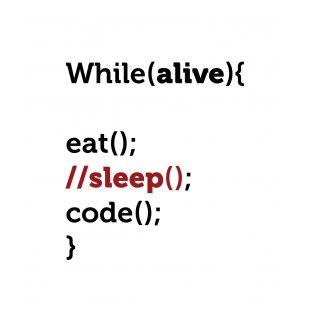 Тениска за програмисти с Код //Sleep за мъже - бяла