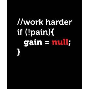 Тениска за програмисти с Код WORK Harder - черна