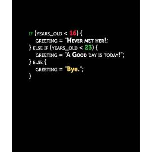 Тениска за програмисти с Код A good Day - черна