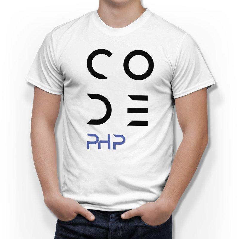 Тениска за програмисти с надпис CODE - PHP в Мъжки тениски | в Tee.bg