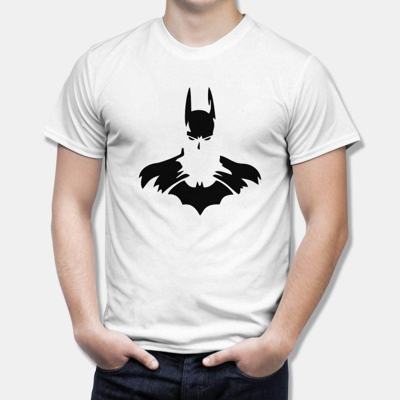 Тениска Батман - комикс стил на батман с жълта емблема, Черна в Мъжки тениски | в Tee.bg