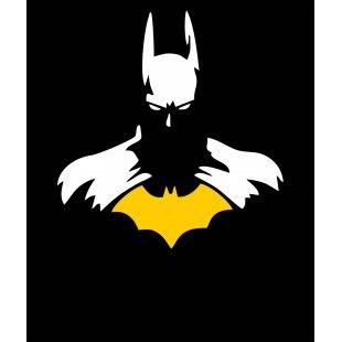 Тениска Батман - комикс стил на батман с жълта емблема в Мъжки тениски | в Tee.bg