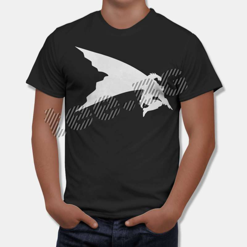 Тениска Батман - изчистена тениска с бял принт, Черна в Мъжки тениски | в Tee.bg
