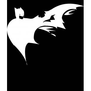 Тениска Батман - dark batman тениска с бял принт - Черна в Мъжки тениски | в Tee.bg