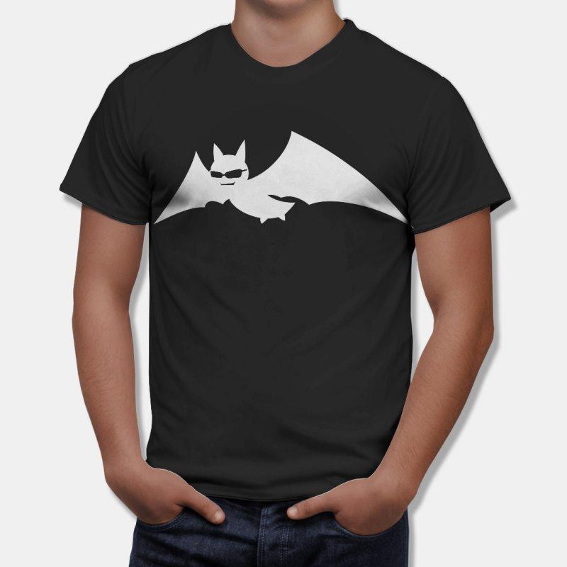 Geek Тениска Батман - прилеп с очилца, Черна в Мъжки тениски | в Tee.bg
