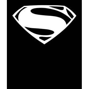 Тениска Супермен с оригиналното лого на гърдите на Супермен, черна