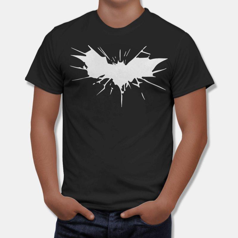 Тениска Батман със Сплаш на емблемата на Батман в Мъжки тениски | в Tee.bg